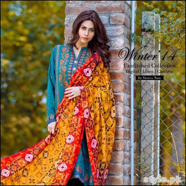 So Kamal Winter Dresses 2014-2015 For Women 5