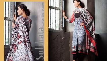 Subhata Linen Dresses 2014-2015 by Shariq Textile 1