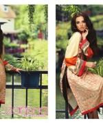 Zanisha Embroidered Linen Dresses 2014 by Al-Zohaib Textile 3