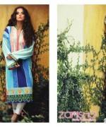 Zanisha Embroidered Linen Dresses 2014 by Al-Zohaib Textile 5