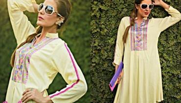 Zayn Rashid Embose Winter Dresses 2014 For Girls 6