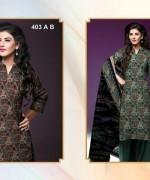 Al-Hamra Textile Linen Dresses 2014 Volume 1 For Women 001