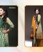 Al-Hamra Textile Linen Dresses 2014 Volume 1 For Women 0012