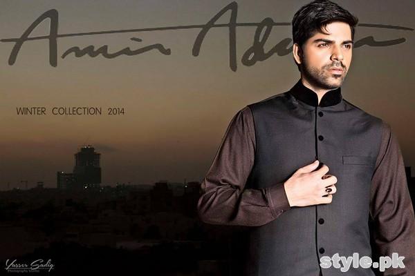 Amir Adnan Winter Collection 2014 For Men 2