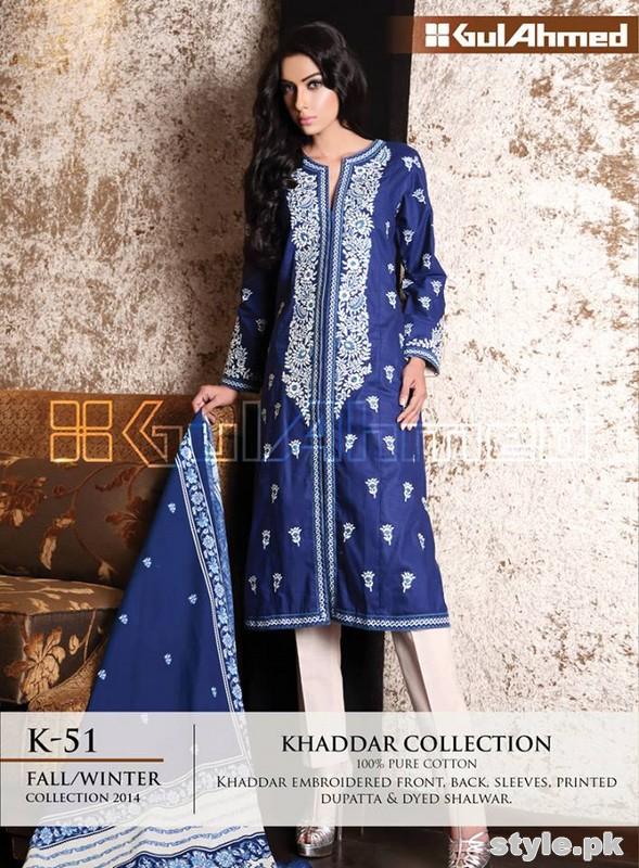 Gul Ahmed Khaddar Dresses 2014-15 For Women 5