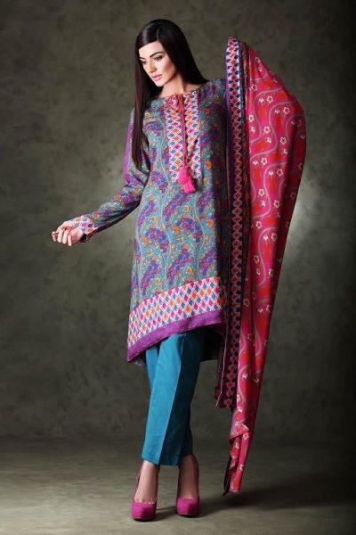 Khaadi Linen Dresses 2015 For Women 007
