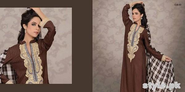 Lala Textiles Celebre Woolen Shawl Dresses 2014-15 1