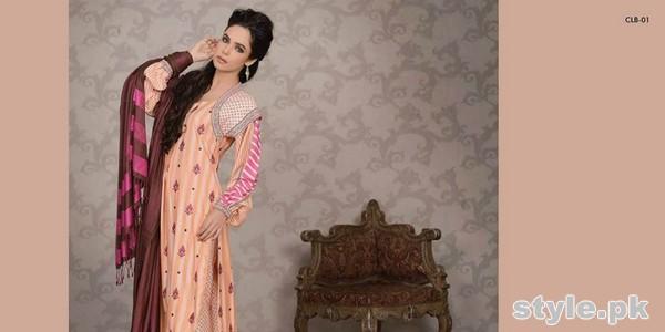 Lala Textiles Celebre Woolen Shawl Dresses 2014-15 3