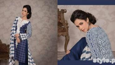Lala Textiles Celebre Woolen Shawl Dresses 2014-15 7