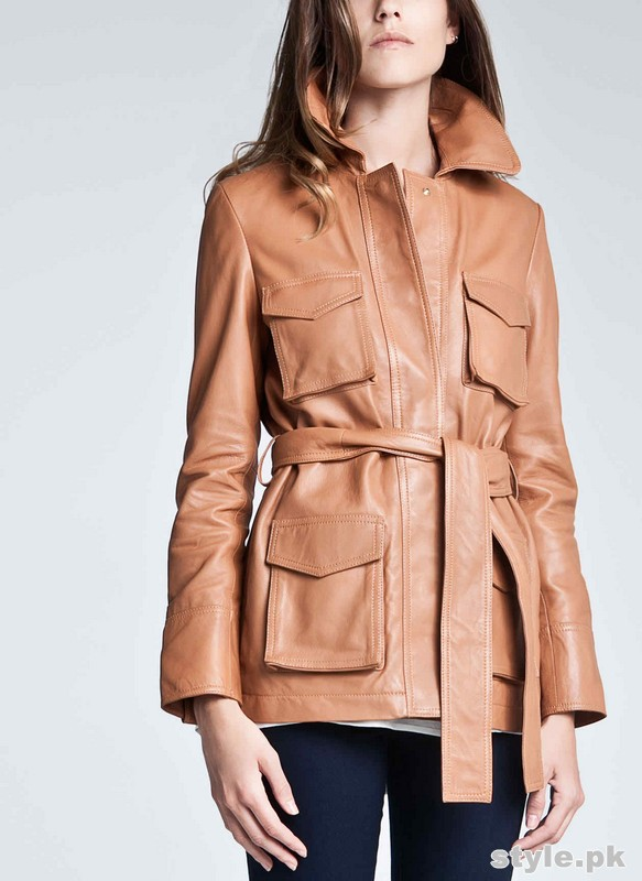 Latest Leather Jackets Trends 2014-15 For Women 12