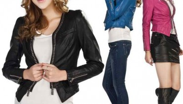 Latest Leather Jackets Trends 2014-15 For Women 5