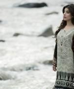 Maria B Linen Dresses 2014 For Winter 4