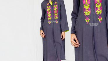 Pinkstich Winter Dresses 2014-15 For Girls 2