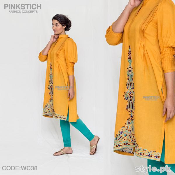 Pinkstich Winter Dresses 2014-15 For Girls 4