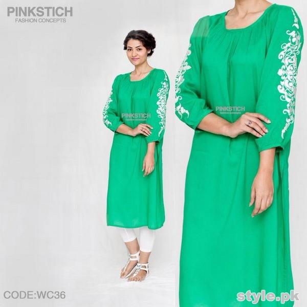 Pinkstich Winter Dresses 2014-15 For Girls 6
