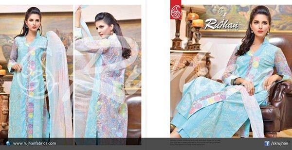Rujhan Fabric Cotton Dresses 2014 For Women 003