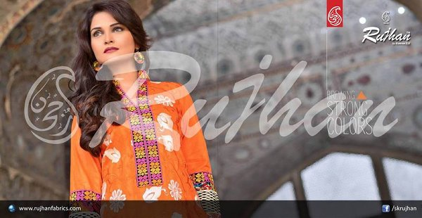 Rujhan Fabric Cotton Dresses 2014 For Women 008