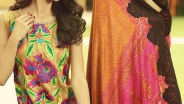 Shirin Hassan Digital Print Dresses 2015 For Winter 4