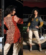Strawberry Embroidered Kurti Collection 2014 For Girls 1