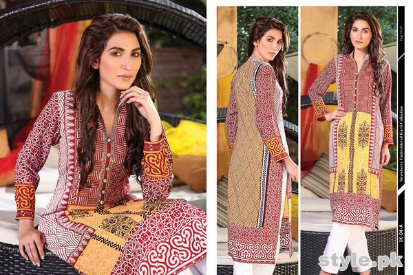 Strawberry Embroidered Kurti Collection 2014 For Girls 10