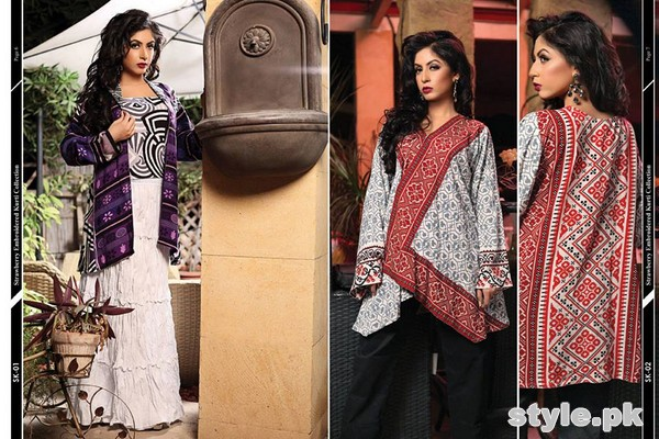 Strawberry Embroidered Kurti Collection 2014 For Girls 5