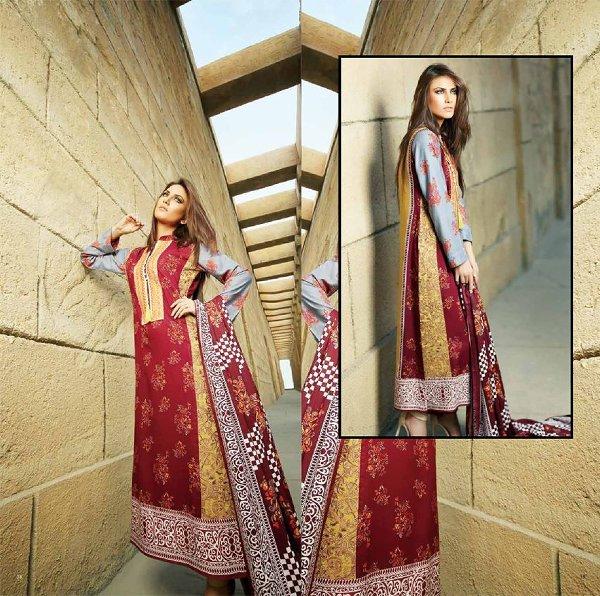 ZS Textiles Winter Dresses 2014 For Women 004