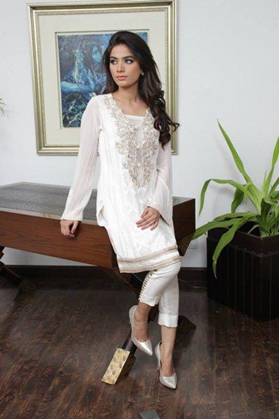 Zainab Salman winter dresses 2014 for women 001