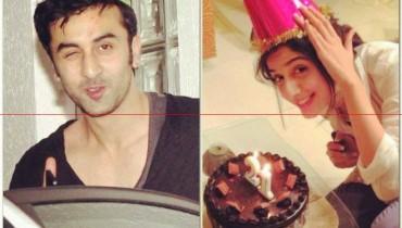 mawra hocane 21th Birthday Pic with Ranbir kapoor