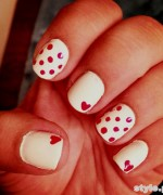 Beautiful Nail Art Designs 2015 For Valentines Day 1