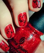 Beautiful Nail Art Designs 2015 For Valentines Day 11