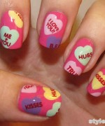 Beautiful Nail Art Designs 2015 For Valentines Day 12