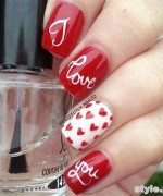Beautiful Nail Art Designs 2015 For Valentines Day 2