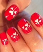 Beautiful Nail Art Designs 2015 For Valentines Day 8