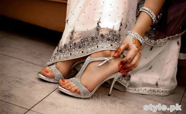Bridal High Heel Shoes 2015 in Pakistan 6