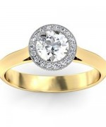 Gold Engagement Rings 2015 For Girls 0013