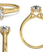 Gold Engagement Rings 2015 For Girls