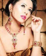 Gold Jewellery Set 2015 Designs For Brides 0013