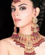 Gold Jewellery Set 2015 Designs For Brides 0014