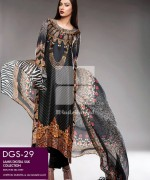 Gul Ahmed Lamis Digital Silk Dresses 2015 For Women 1