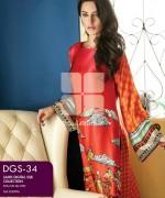 Gul Ahmed Lamis Digital Silk Dresses 2015 For Women 2