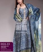 Gul Ahmed Lamis Digital Silk Dresses 2015 For Women 5