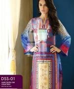 Gul Ahmed Lamis Digital Silk Dresses 2015 For Women 6
