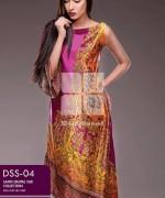 Gul Ahmed Lamis Digital Silk Dresses 2015 For Women 7