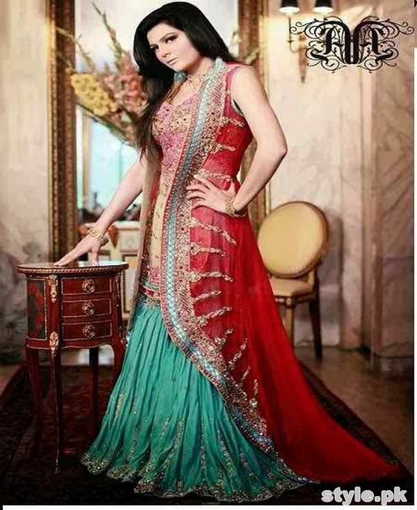 Latest Bridal Gharara Designs 2017 In Pakistan 1018
