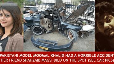 Moomal Khalid and Shahzaib Magsi Car Accident