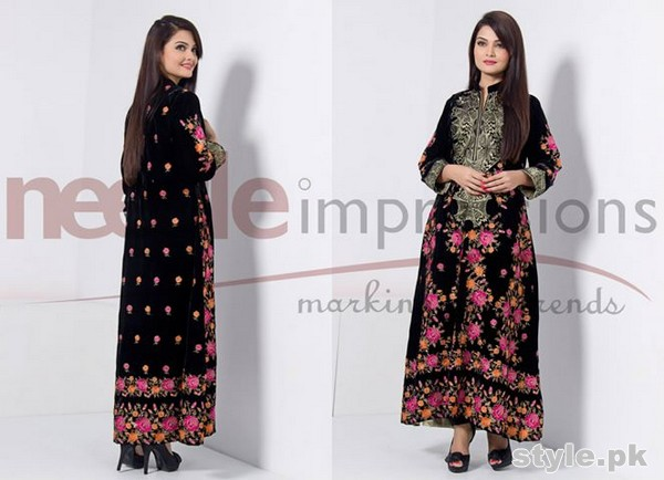 Needle Impressions Winter Dresses 2015 For Girls 4