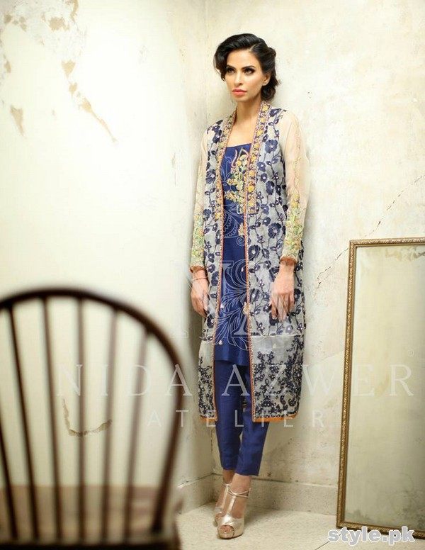 Nida Azwer Formal Wear Dresses 2015 For Girls 4
