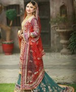 Pakistani Baraat Dresses 2015 For Girls 001