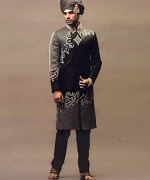 Pakistani Baraat Dresses For Boys 2015 02