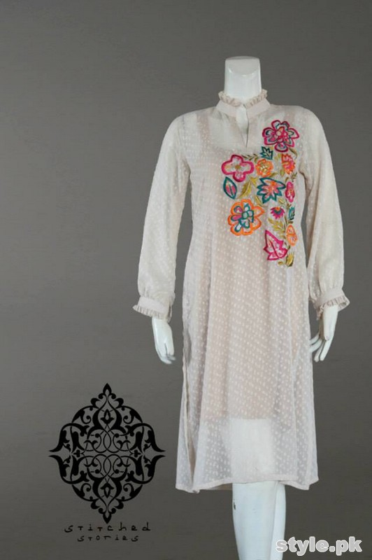 Stitched Stories Winter Dresses 2015 For Girls 1